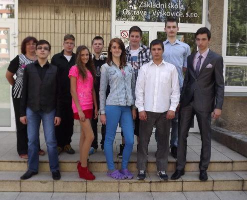 Deváťáci školního roku 2014